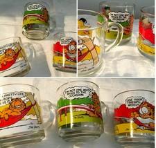 Jim Davis Garfield McDonalds 1978 1980 Graphic Coffee Cup Lot 3    SKU 027-61 - $12.09