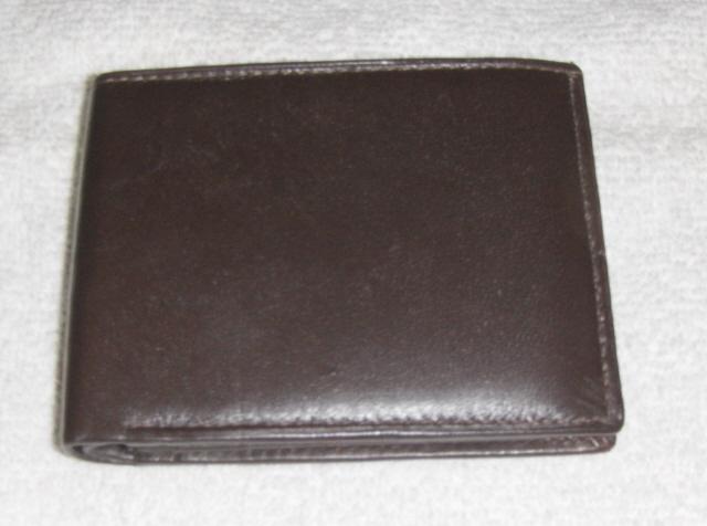 Genuine Leather Men's Bi-Fold Wallet- #82 BROWN