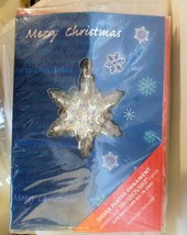 Harley Lewis Christmas Card with Snowflake Ornament Swarovski Sealed Unused - $19.40