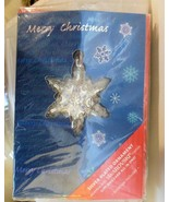 Harley Lewis Christmas Card with Snowflake Ornament Swarovski Sealed Unused - $19.40