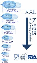 longzon Silicone Stretch Lids Set of 14, Includes 2 XXL Sizes image 2