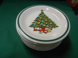 """Outstanding MOUNT CLEMENS Pottery""""Christmas"""" Theme-  8 BREAD-SALAD  Plates - $49.09"""