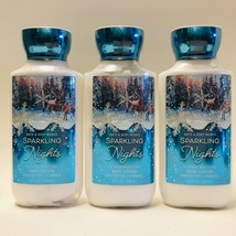 3-Pack Bath & Body Works Sparkling Nights Shea Super Smooth Body Lotion ... - $24.70