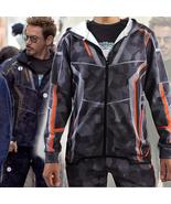 Man Hoodie Avengers Infinity War Cosplay Costume Tony Stark Camouflage J... - $59.52