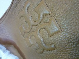 NWT Tory Burch Bark Brown Pebbled Leather Thea Chain Slouchy Tote $495 image 9