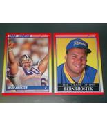 1990 Score NFL FOOTBALL Series 2 - BERN BROSTEK - 2 Card Lot - $3.50