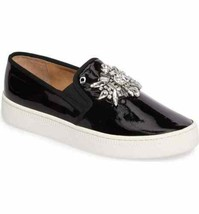 Badgley Mischka Barre III Women Fashion Sneakers Black Patent Crystal MP... - $59.95