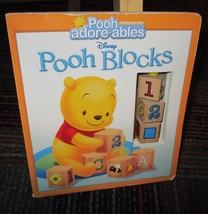 DISNEY POOH ADORE ABLES THINKABLES POOH BLOCKS BOARD BOOK, GREAT READ, GUC - $3.99