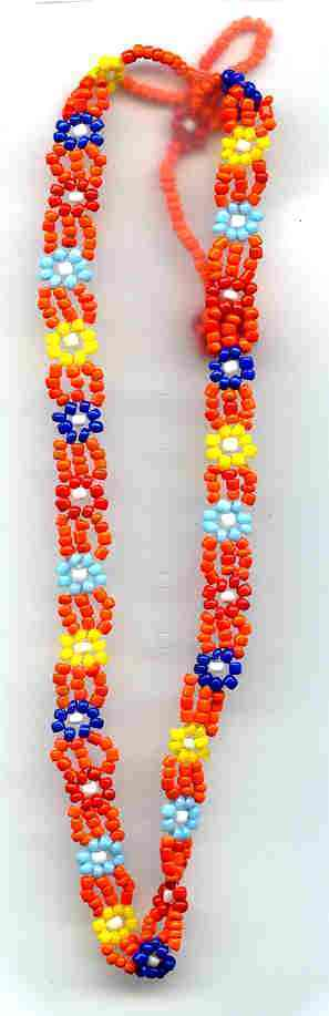 Bead necklace orange