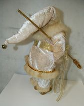 Sterling Brand Large Luxurious Ivory Santa Figurine Holding Gold Color Staff image 4