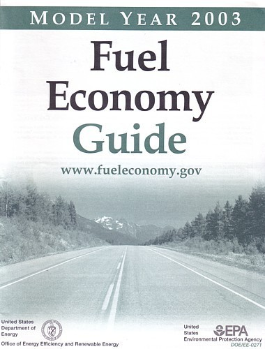 EPA 2003 Fuel Economy Guide vintage US brochure Gas Mileage