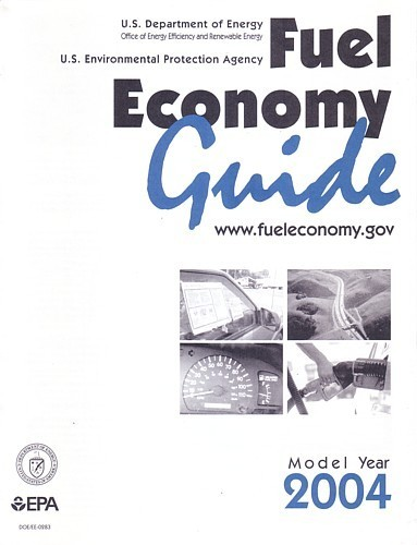 EPA 2004 Fuel Economy Guide vintage US brochure Gas Mileage
