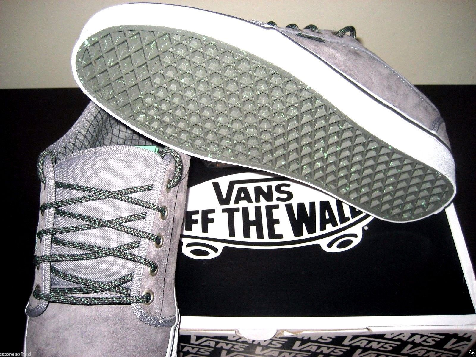 c16f079e78 ... Vans Chukka Low Hiker Grey Mint Suede Canvas Skate Shoes Size 8  VN-0UOG9VY ...