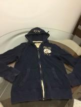 Men's Hollister Blue Thermal Hoodie Sweatshirt Medium Good Condition - $24.74