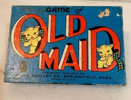 VINTAGE...RARE...OLD MAID CARD GAME...#4681...MILTON BRADLEY - $7.66