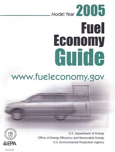 EPA 2005 Fuel Economy Guide vintage US brochure Gas Mileage