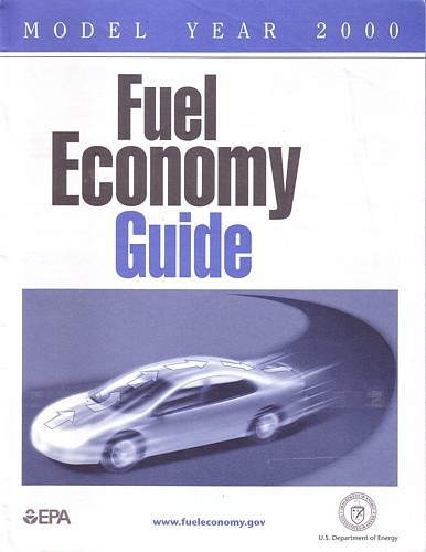 EPA 2000 Fuel Economy Guide vintage US brochure Gas Mileage