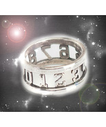 HAUNTED ANTIQUE RING THE MASTER CIRCLE SACRED NUMBERS LUCK SECRET OOAK M... - $8,997.77