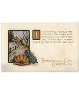 Thanksgiving vintage postcard Whitney pumpkin grapes 1900  - $8.00