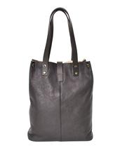 Women's Leather Boho Chic Purse Studded Expandable Lined Transport Tote Handbag image 4