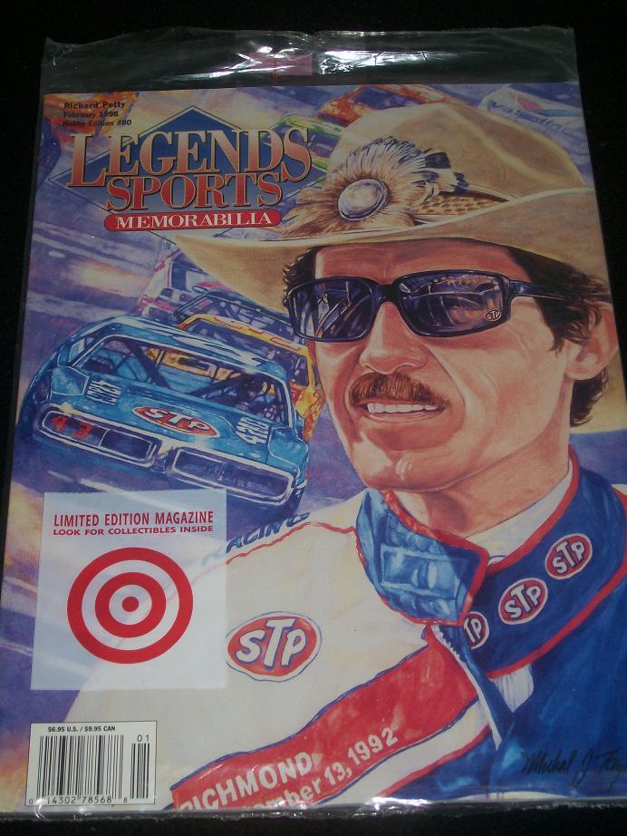Richard Petty Legends Sports Memorabilia Magazine