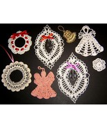 Lot of 8 Crocheted Christmas Ornaments - $9.00