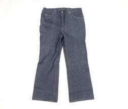 NOS 80s Carhartt Mens 40x30 Indigo Wash Flared Western Bootcut Denim Jea... - $128.65