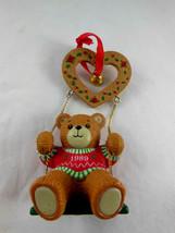 ENESCO TREASURY OF CHRISTMAS 1989 LUCY & ME ORNAMENT Teddy Bear Heart Sw... - $6.92