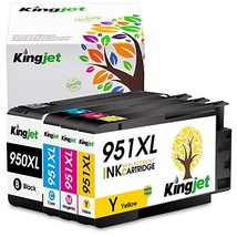 Kingjet Compatible Ink Cartridge Replacement for 950 951, 950XL 951XL Wo... - $31.46