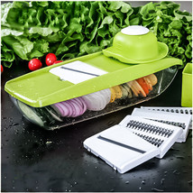 Adjustable Mandoline Manual Vegetable Cutter Slicer Grater with 5 Blades - €19,87 EUR
