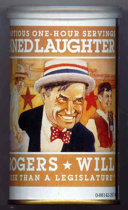 Will Rogers Cassettes Laughter in a can