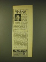 1960 Kelly Girl Ad - Kelly Girls cut job time 23% - $14.99
