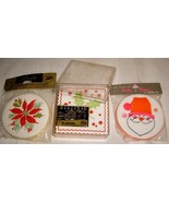 Lg Lot of Vintage Paper Christmas Coasters - $8.99