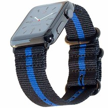 Carterjett Thin Blue Line Nylon NATO Compatible Apple Watch Band 44mm 42... - $32.65+