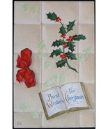 Antique, E. Nash, Early Divided-back, Embossed Postcard, Best Wishes for... - $7.00