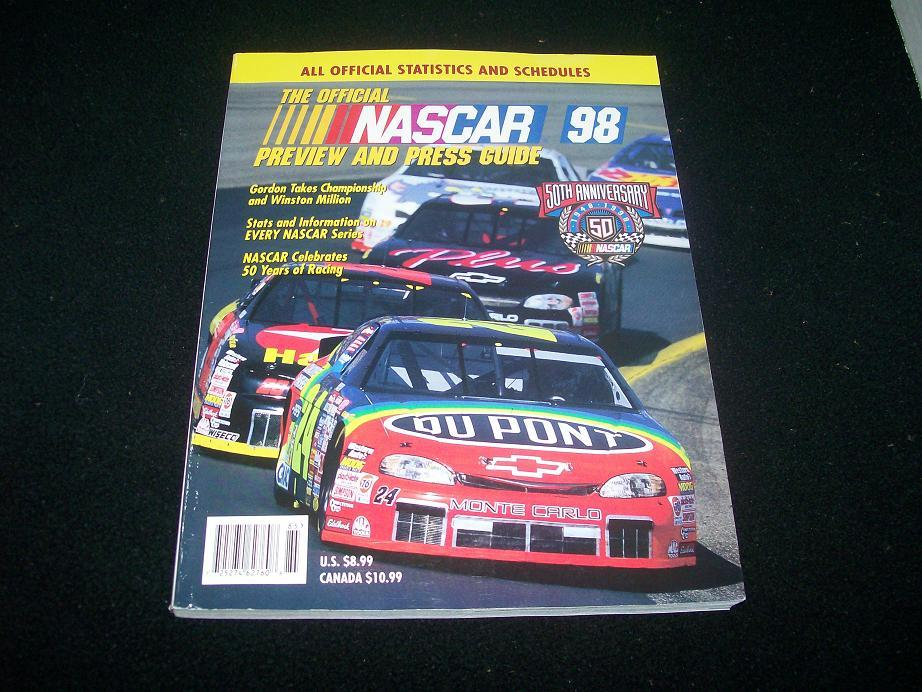 The Official Nascar 98 Preview and Press Guide; 50th Anniver