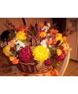 Gorgeous Autumn Silk Flower Centerpiece - $35.00