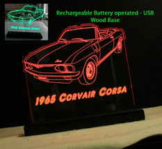 Car Sign, Corvette sign - Personalized Rechargeable Battery/USB/110V sign - $86.13+