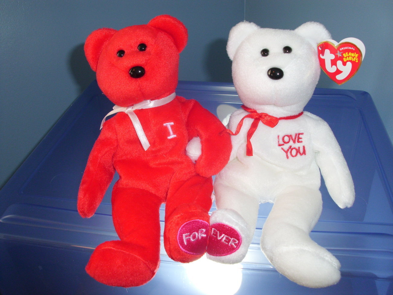 Primary image for I Love (Heart) You TY Beanie Babies MWMT 2005
