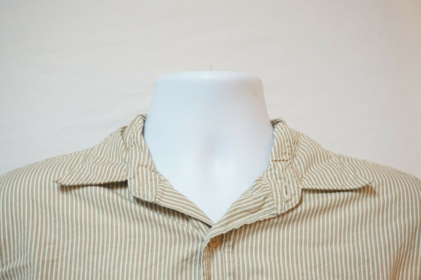 Primary image for Polo Ralph Lauren Midweight Button-Front Shirt, Excellent, Men's Large 1015