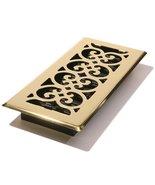 Decor Grates SPH410 Floor Register, 4x10, Polished Brass Finish - $12.73