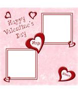 Valentine 3 ~ Digital Scrapbooking Quick Page Layout - $3.00