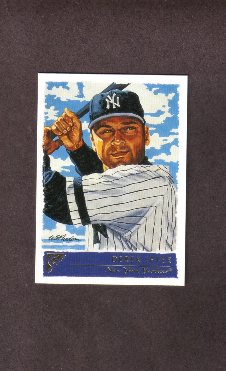 2001 Topps Gallery # 11 Derek Jeter New York Yankees