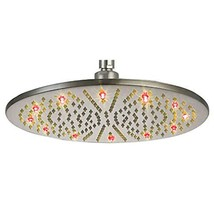 Cascada 16 Inch Ceiling Mount Round Rainfall LED Shower Head, Stainless Steel (( - $237.55