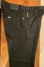 Armani Jeans Men's Black Stretch Jeans Size 34 / 32 Vintage Giorgio Armani - $247.45