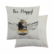 """EVANS LICHFIELD BUMBLEBEE BEE HAPPY 17"""" 43CM CUSHION COVER - £11.70 GBP"""