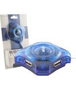 4-Port USB Mini Hub (Translucent Blue), BRAND NEW - $10.00