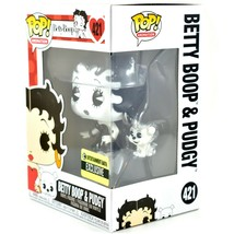 Funko Pop! Betty Boop & Pudgy Black & White Entertainment Earth Exclusive Figure image 2