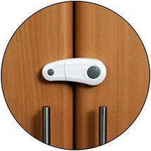 Safe-O-Kid - Pack of 1, Durable, Elegant Child Safety Cabinet Lock - Grey - $19.60