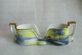 HAND PAINTED NORITAKE Spooner Spoon Caddy Holder TREE & HOUSE on the MEA... - $29.65